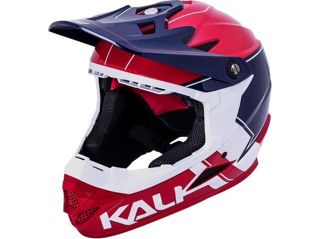 Kali Zoka Helm rot/blau/weiss